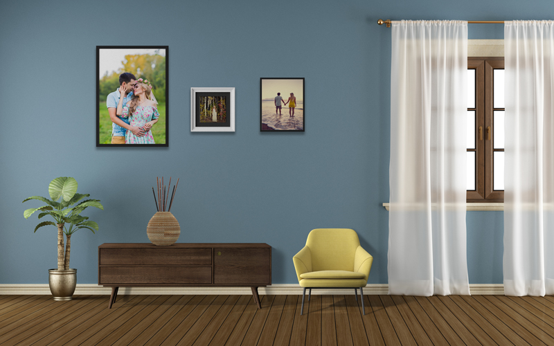 Pastel Wall Frames and Interiors