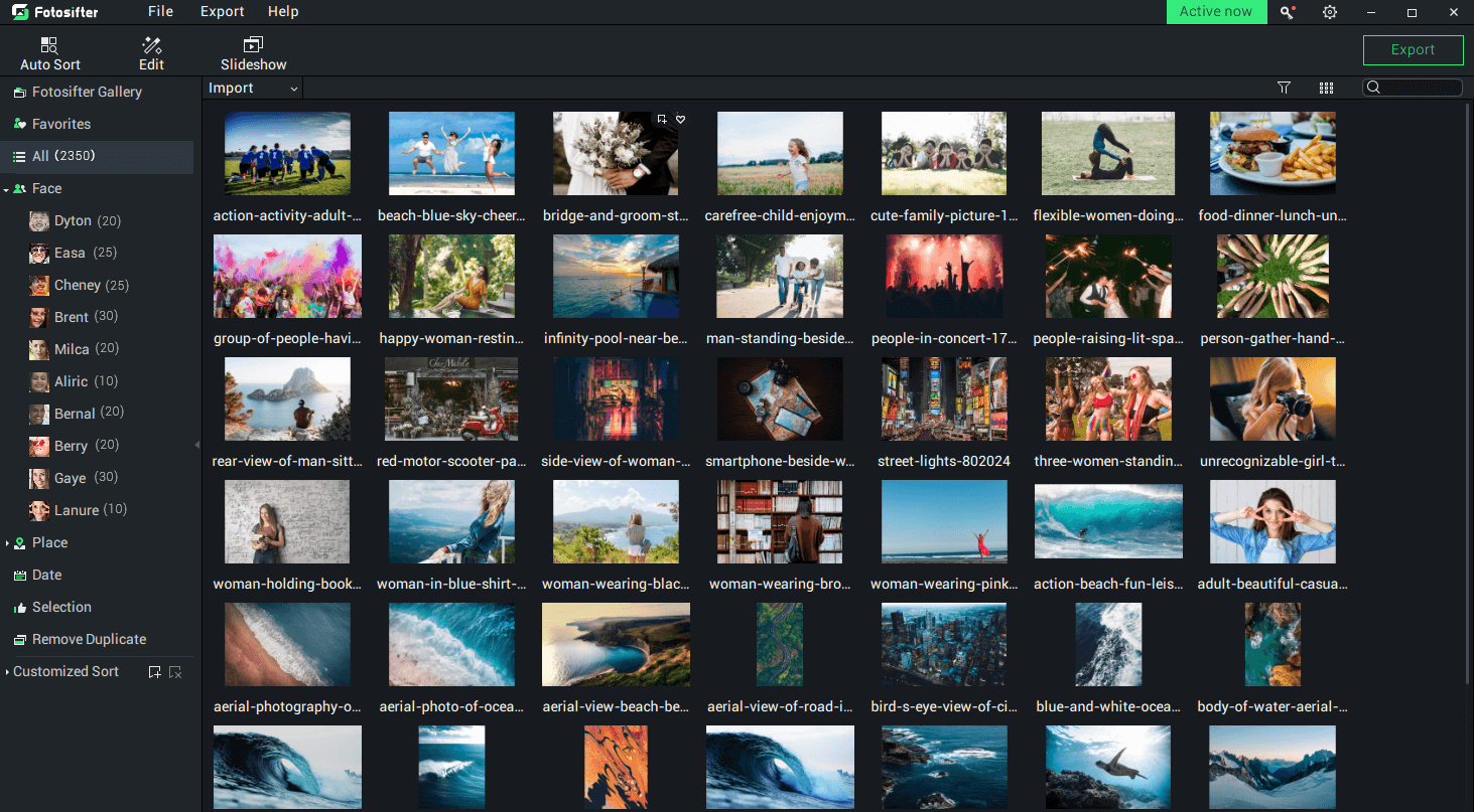 Photo sorting & editing software