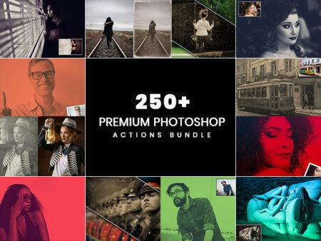 250+ Premium Photoshop Actions Bundle