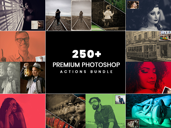 250+ Premium Photoshop Actions Bundle