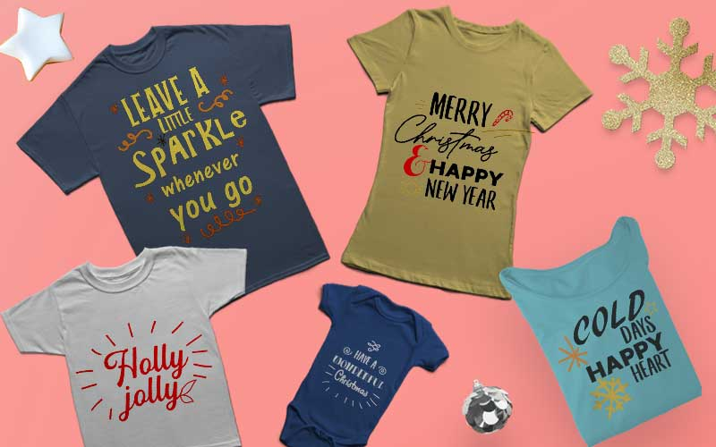 Holiday Themed T-Shirt Designs Bundle
