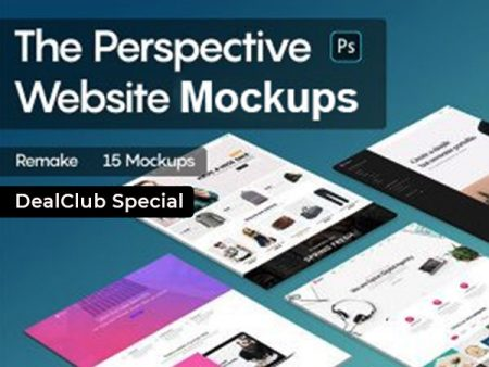 Perspective Website Mockups Bundle Feature Image