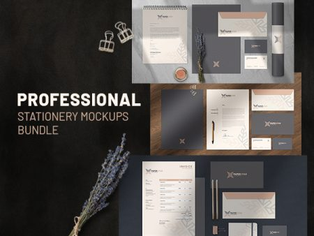 Professional Stationery Mockups Freebie