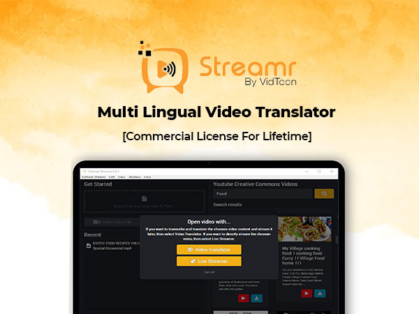 Streamr- Multi-lingual video translator