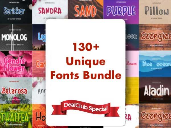 Giant Fonts Bundle Feature Image
