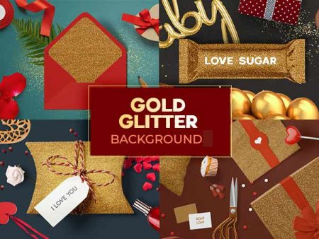 Gold Glitter Background Feature Image