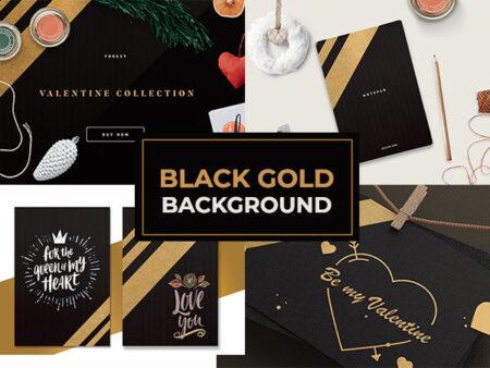 black gold background
