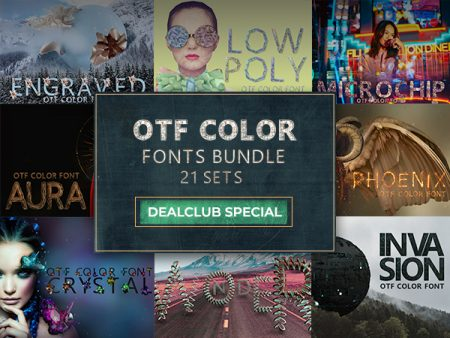 OTF Color Fonts Bundle Feature Image