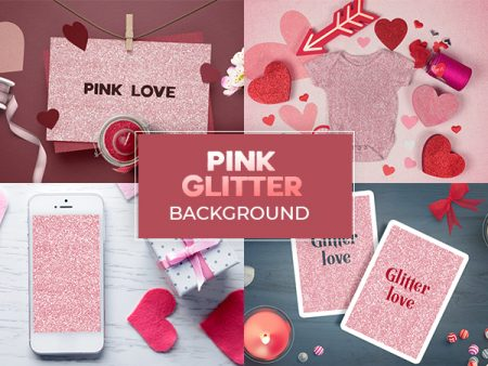 Pink Glitter Background Feature Image