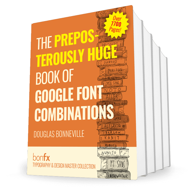 Book of Google Font Combinations
