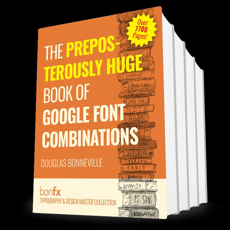 Book of Google Font Combinations