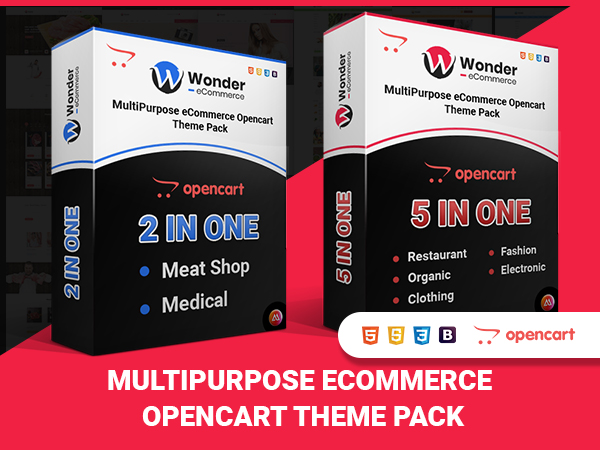 Wonder Multipurpose Ecommerce OpenCart Themes