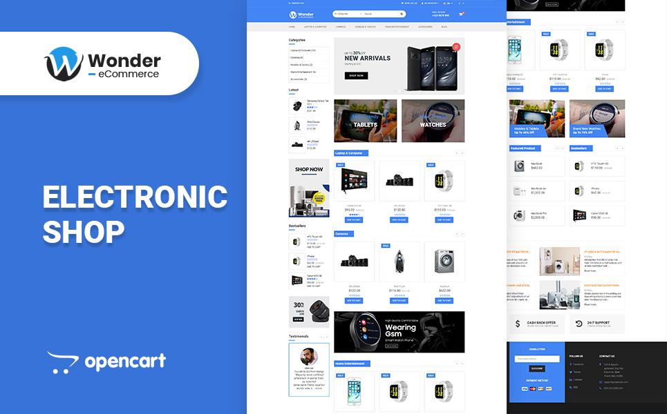 Wonder Electronics Shop OpenCart Theme