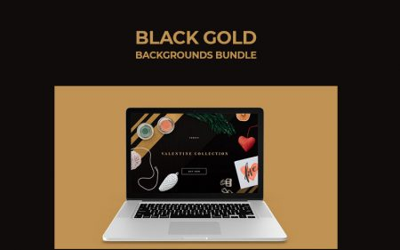 Black Gold Backgrounds Bundle