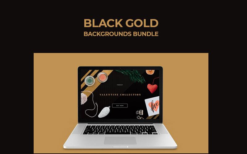 Black Gold Backgrounds Bundle