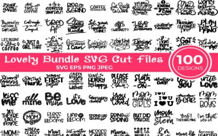 Lovely Bundle of SVG Cut Files