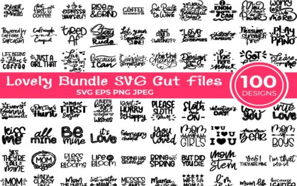 Lovely Bundle of SVG Cut Files