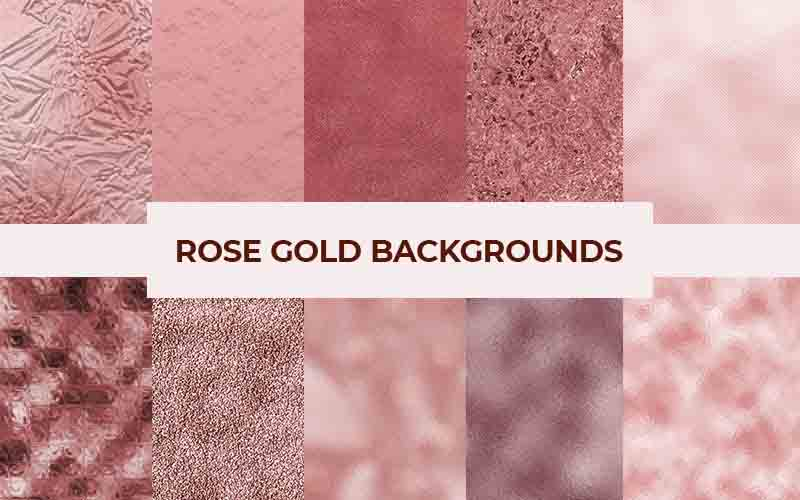 Rose Gold Backgrounds Bundle