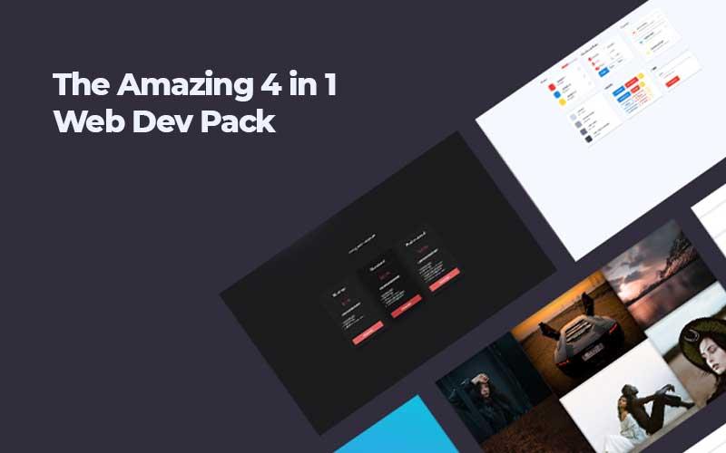 4-In-1 Website Design Elements Pack