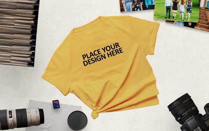 flat lay tshirt mockups