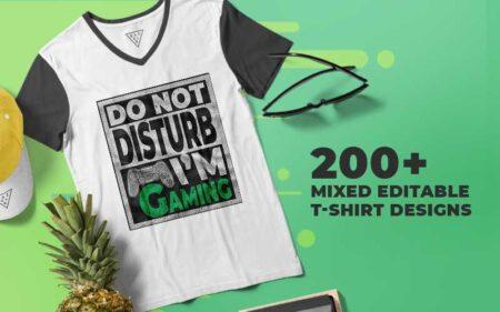 Mixed Editable T-shirt Bundle