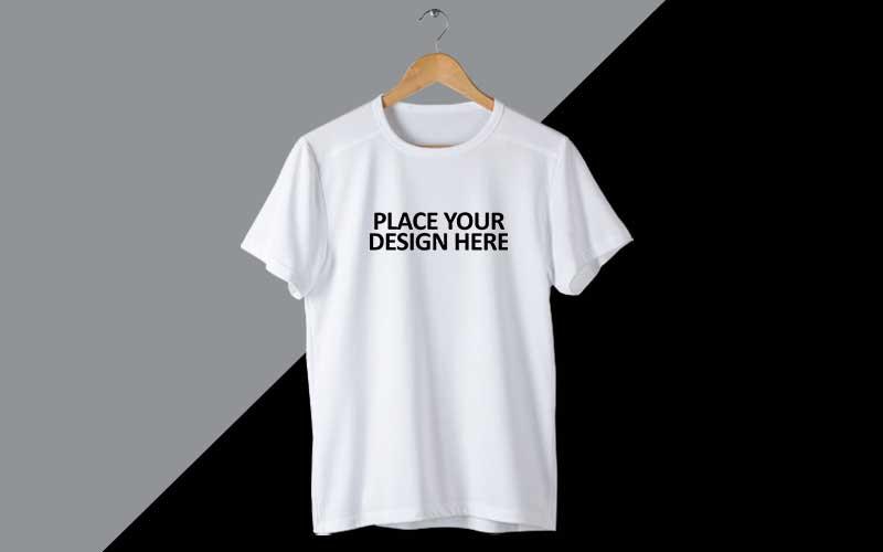 Hanger Tshirt mockup preview