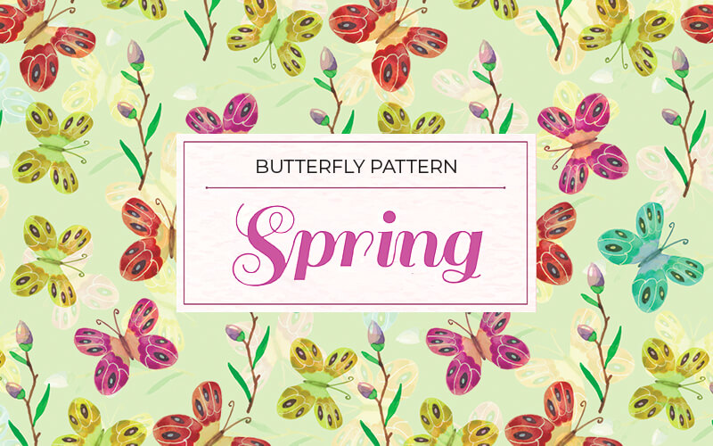 Floral Butterfly Spring Image