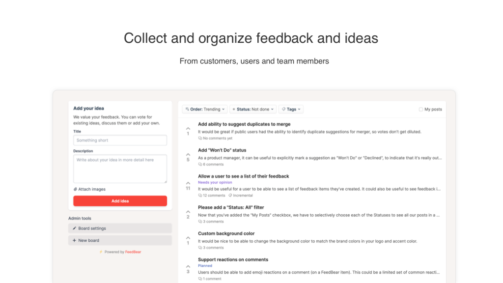 1 Collect feedback