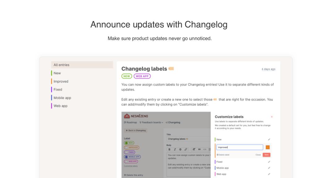 3 Announce updates
