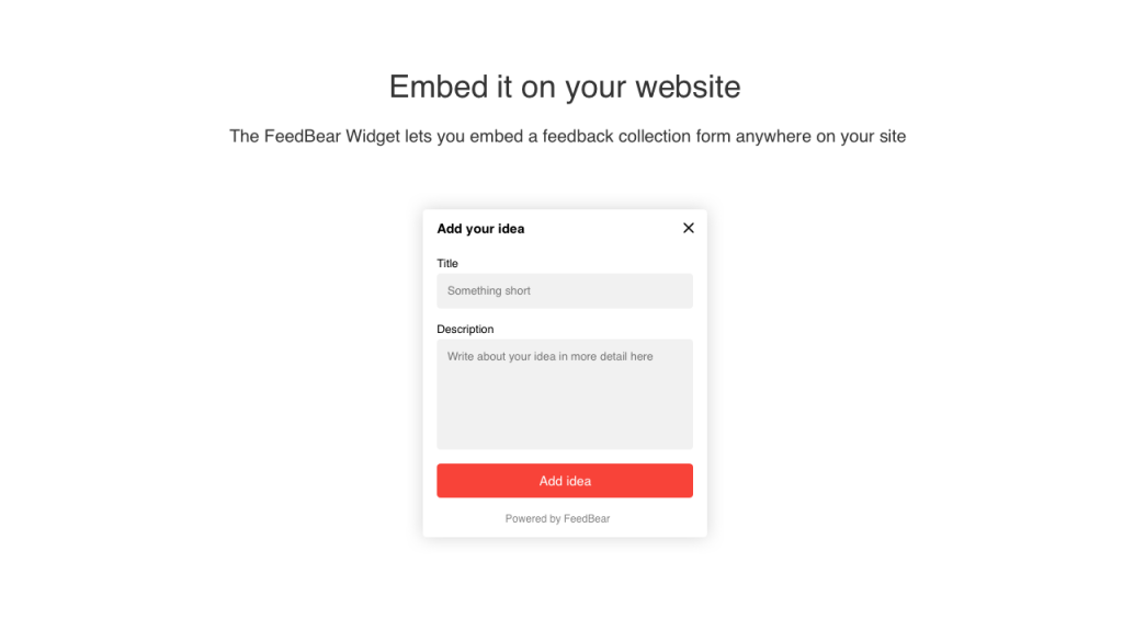 4 Embed it on your site