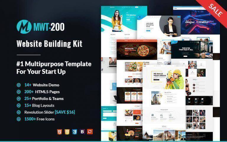 MWT-200 Multipurpose Website Templates Kit