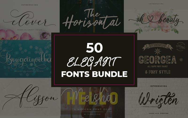 50 Elegant Fonts Bundle