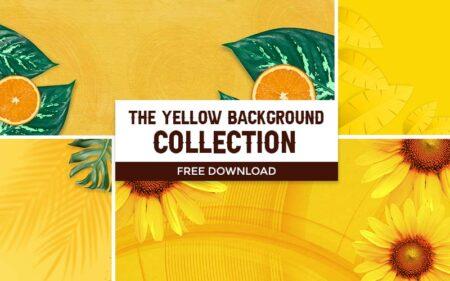 yellow background banner