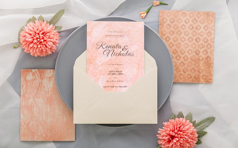 rose texture greeting card