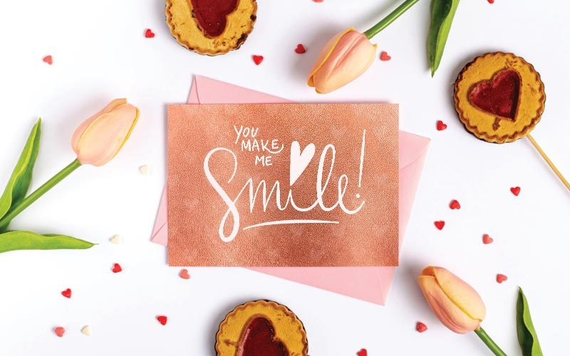 rose gold texture envelopes