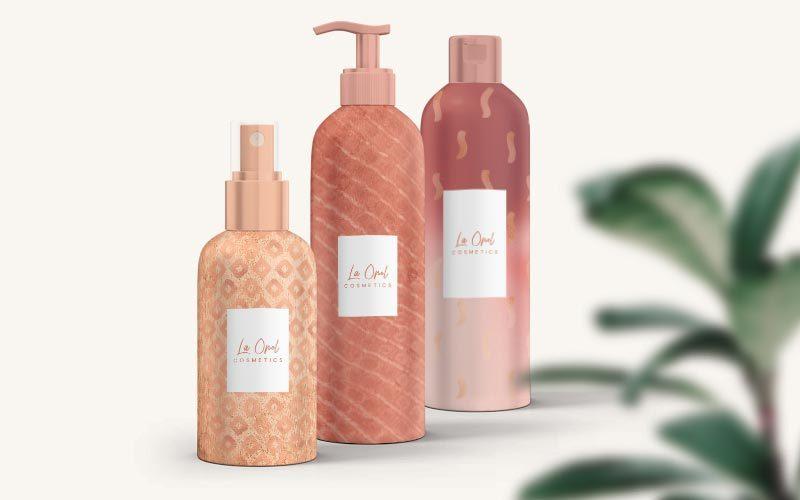 rose gold background product design