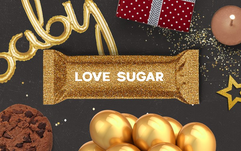 Gold Glitter Background Product Packaging Mockup