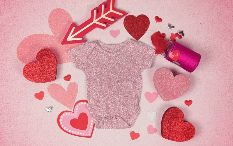 Pink Glitter Background T-Shirt Mockup