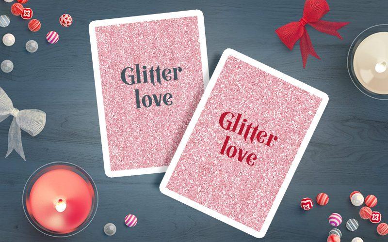 Glitter Cards Mockup